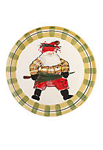 Old St. Nick Santa Round Platter 13.75-in.