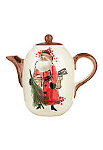 Old St. Nick Santa Hot Chocolate Pot 8.75-in. H