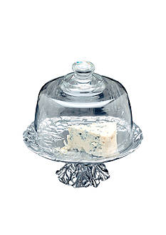 Arthur Court Grape Footed Plate with Glass Dome