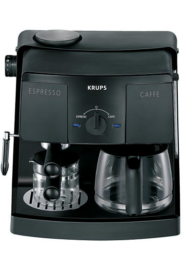 Krups 10/4-Cup Coffee and Espresso Machine XP1500 - Online Only