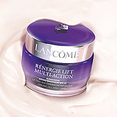 A jar of a Lancome Renergie skin care products. Shop Renergie.