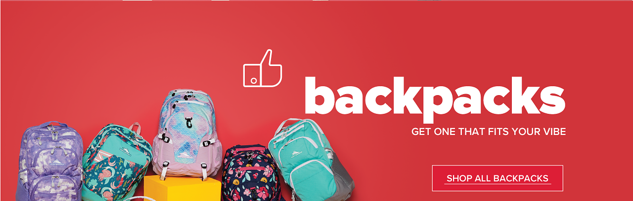 Backpacks. Get one that fits your vibe. Shop All Backpacks.