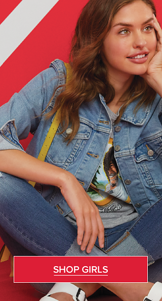 Get the blues. Comfort denim that feels as good as it looks. Shop Girls.