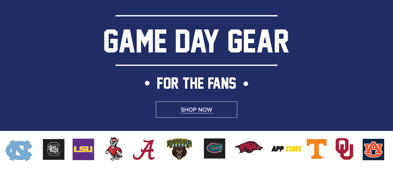 Game Day Gear for the fans. Shop Now.