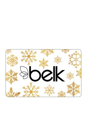 Gold Snowflakes Gift Card