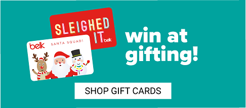 An assortment of Belk gift cards. Win at Gifting. Shop gift cards.