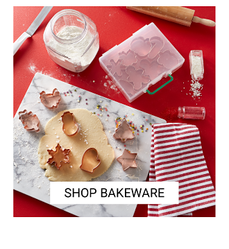An assortment of holiday themed bakeware. Shop bakeware.