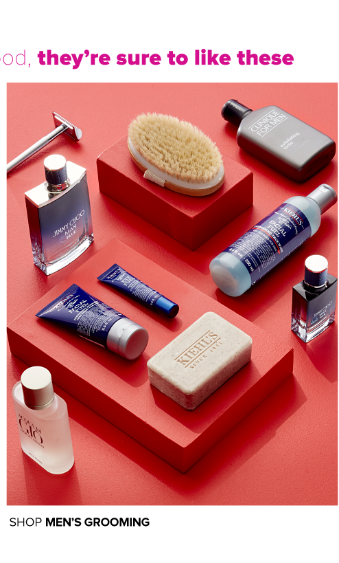 A variety of cologne and men's grooming products. Shop men's grooming.