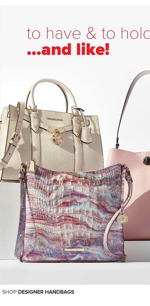 A white handbag with double top handles. To have and to hold, and like! Shop handbags
