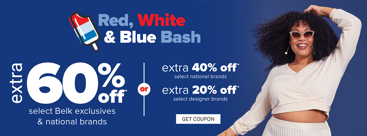 A little girl in a navy tulle dress with an ice cream applique and red and white tights. Red, white, and blue bash. Extra 60% off Belk exclusives and select national brands. Extra 40% off select national brands or extra 20% off select designer brands. Get coupon.