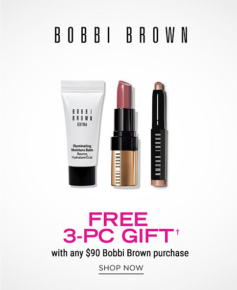 Facial cleanser and other skincare products. Bobbi Brown. Free 3 piece gift with any $90 Bobbi Brown purchase. Shop now.