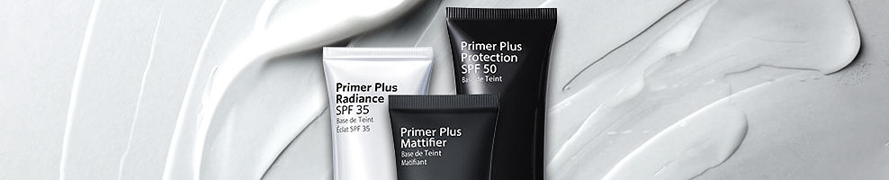 Introducing Primer Plus, a collection of three feather-light formulas?Mattifier, Radiance and Protection?plus a setting spray that allow foundation to glide on smoothly, wear beautifully and look even more flawless than on its own.