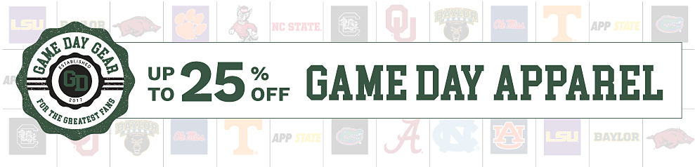 Game Day Gear for the greatest fans. Up to 25% off Game Day Apparel