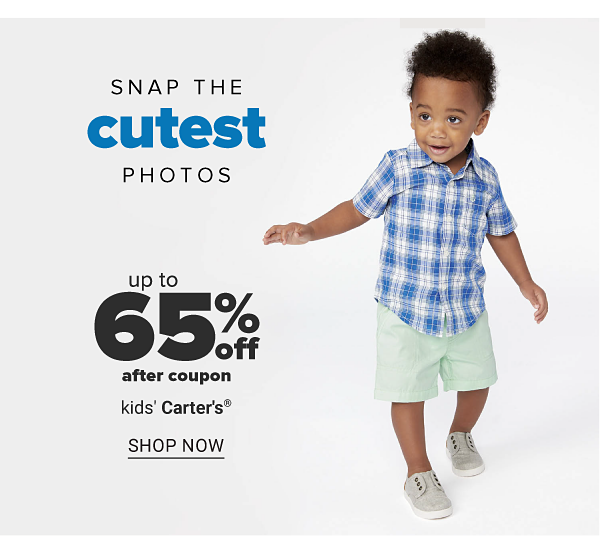 Snap the cutest photos - Up to 65% off after coupon kids' Carters. Shop Now.