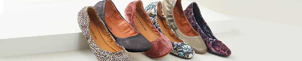An assortment of women's flats in a variety of colors & styles. Women's fall shoes. Check out the season's hottest styles & fall for your new favorite pair. Shop flats.