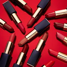 An assortment of Estee Lauder Pure Color Envy lipsticks. Shop Pure Color Envy.