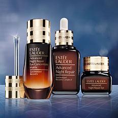An assortment of Estee Lauder Advanced Night Repair products. Shop Advanced Night Repair.