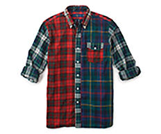 A red, blue & white plaid Polo Ralph Lauren button-front shirt. Shop shirts.
