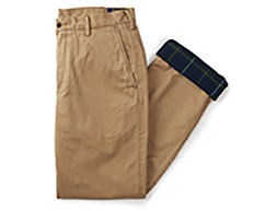 A pair of brown Polo Ralph Lauren pants. Shop pants.