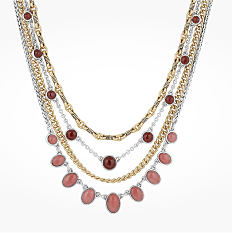 A multi strand beaded necklace. Shop special occasion.