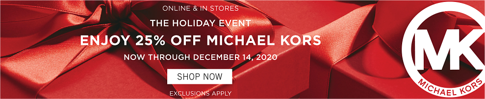 Shop the Michael Kors holiday event.