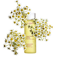 A small bottle of Clarins skin cleanser. Shop cleansers.
