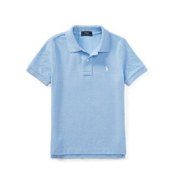 A powder blue boys polo. Shop items for boys size 4-7.