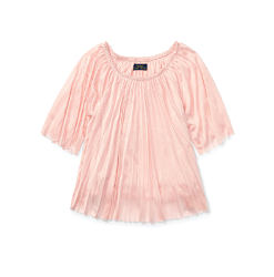 A frilly peach colored dress. Shop items for girls size 7-16.