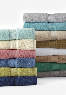 2 stacks of folded bath towels in a variety of colors & styles. Bath towels. Shop now.