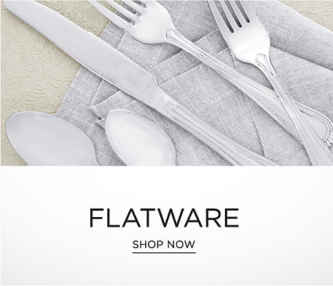 Two spoons, a knife and two forks. Flatware. Shop now.