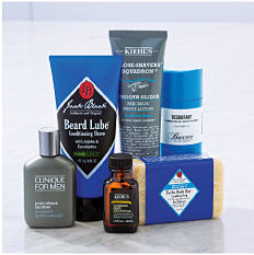 An assortment of men's grooming products. Shop grooming.