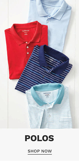 An assortment of men's polos in a variety of colors & prints. Polos. Shop now.