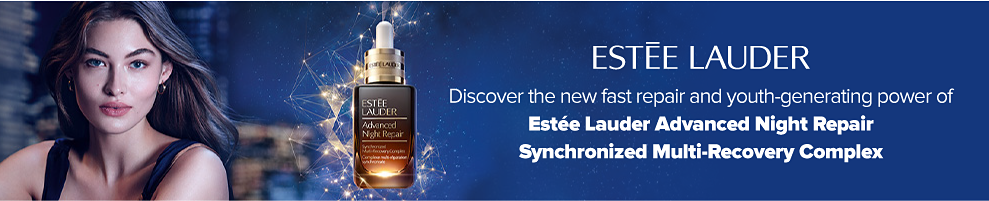 Estee Lauder. Discover the new fast repair and youth-genertating power of Estee Lauder Advanced Night Repair Synchronized Multi-Recovery Complex.