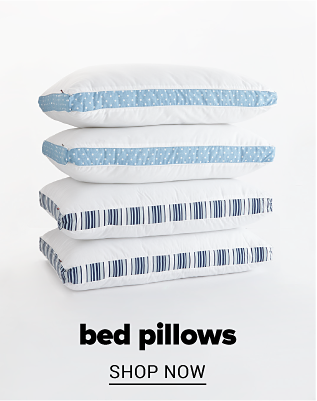 A stack of pillows. Bed pillows. Shop now.
