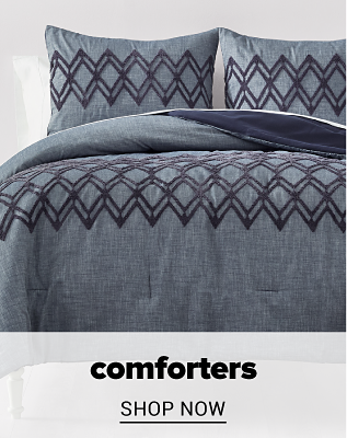 A grey and black comforter set with matching pillows. Comforters. Shop now.