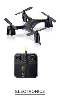 A drone with remote control. Shop electronics.