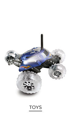 A purple, black toy car with clear plastic wheels. Shop toys.