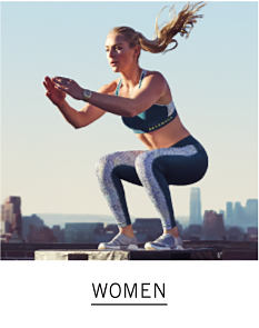 A woman working out outside. Shop women.