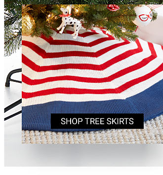 A red, white & blue tree skirt. Shop tree skirts.