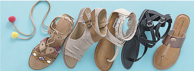assorted sandals