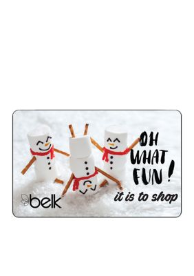 Oh What Fun! it is to shop Gift Card