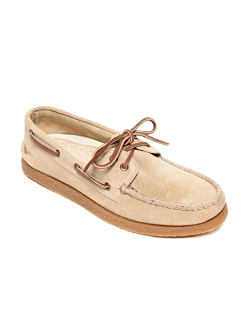 A beige suede men's deck shoe. Shoes. Shop now.