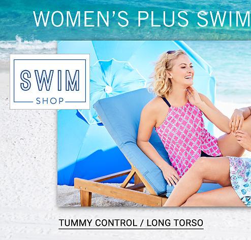 Swim Shop. Women's Plus Swimwear Solutions.