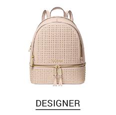 A pale pink small back pack. Shop Designer