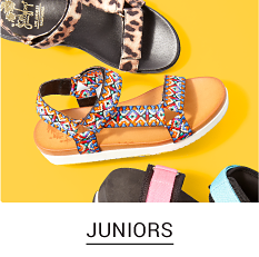 An assortment of Juniors Sandals in a variety of colors. Shop Juniors.