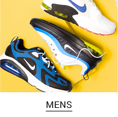 An assortment of men's sneakers in a variety of colors and styles. Shop Mens.