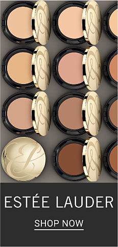 A variety of compacts of powder. Estee Lauder. Shop now.
