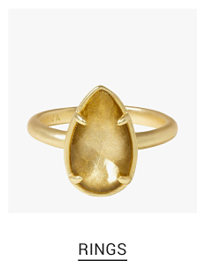 A gold tone & gold tone stone ring. Shop fashion jewelry rings.