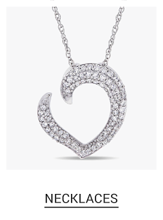A silver & diamond heart shaped pendant necklace. Shop fine jewelry necklaces