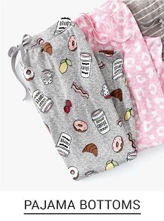An assortment of printed pajama bottoms. Shop pajama bottoms.